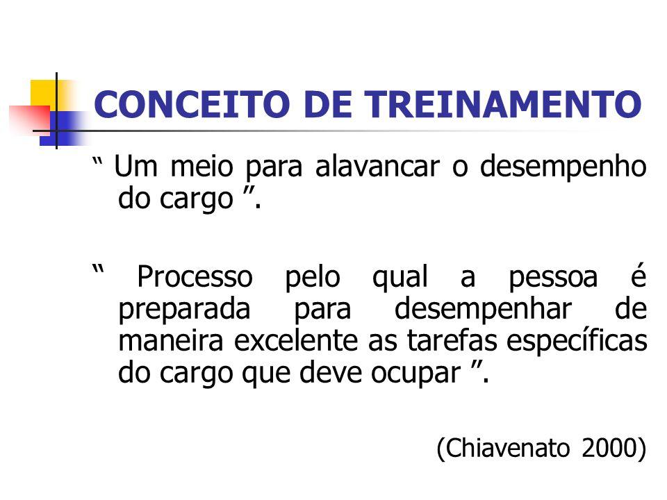 CONCEITO DE TREINAMENTO
