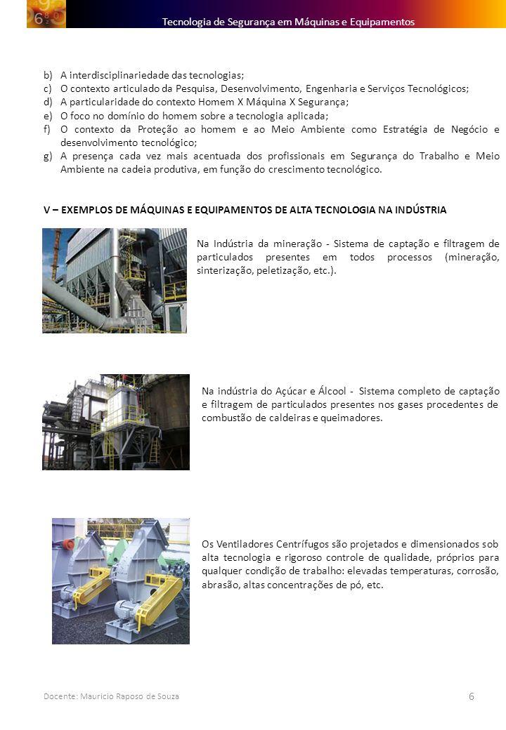 Tecnologia de Segurança em Máquinas e Equipamentos