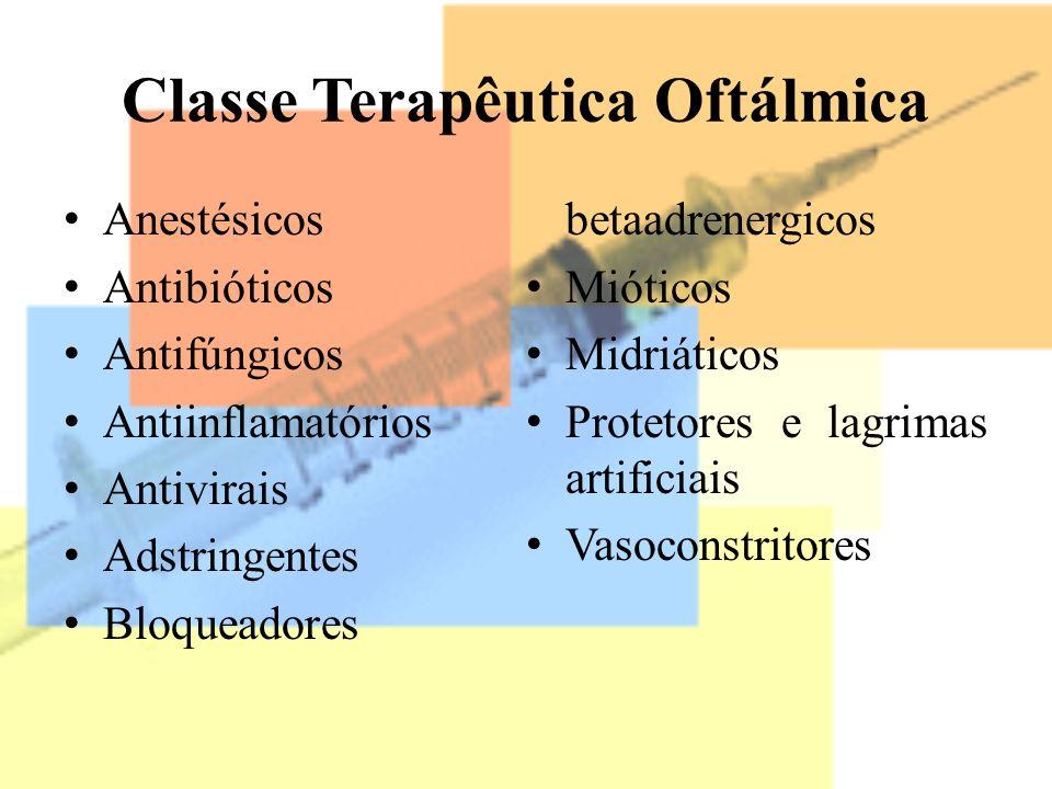 Classe Terapêutica Oftálmica