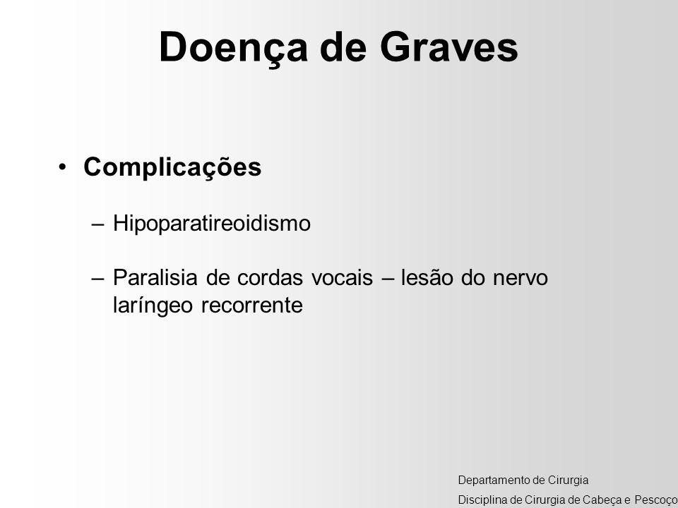 Doença de Graves Complicações Hipoparatireoidismo