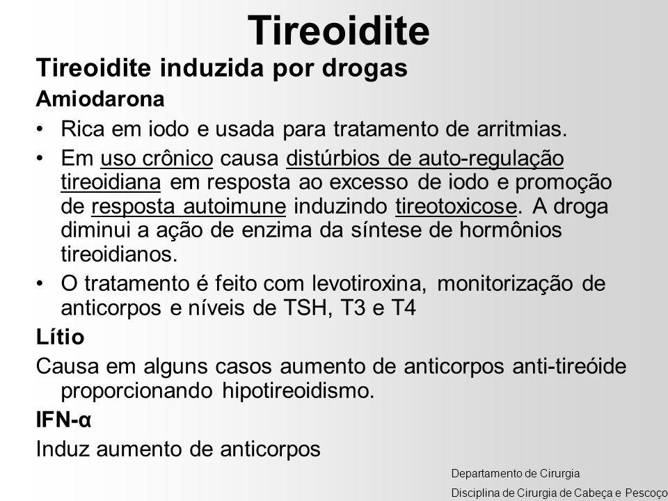 Tireoidite Tireoidite induzida por drogas Amiodarona