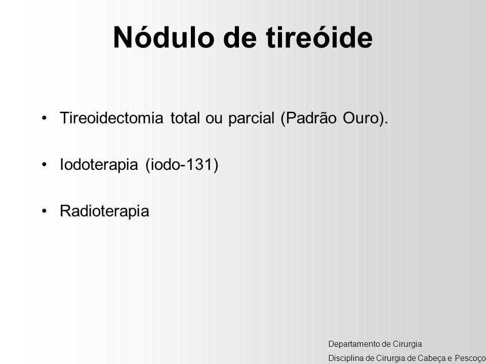 Nódulo de tireóide Tireoidectomia total ou parcial (Padrão Ouro).