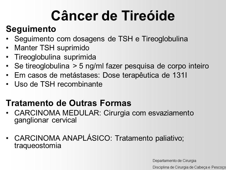 Câncer de Tireóide Seguimento Tratamento de Outras Formas