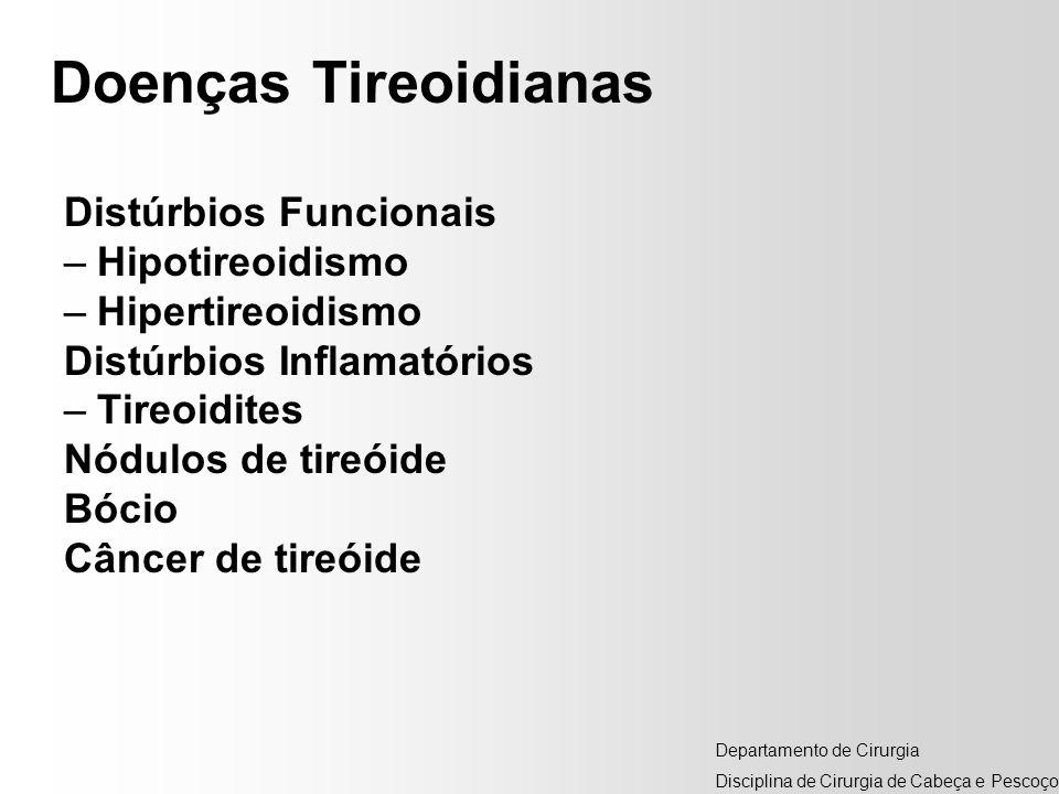 Doenças Tireoidianas Distúrbios Funcionais Hipotireoidismo