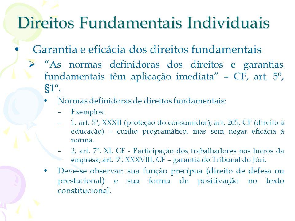 Direitos Fundamentais Individuais