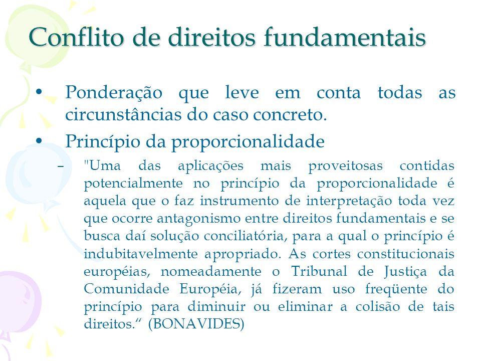 Conflito de direitos fundamentais
