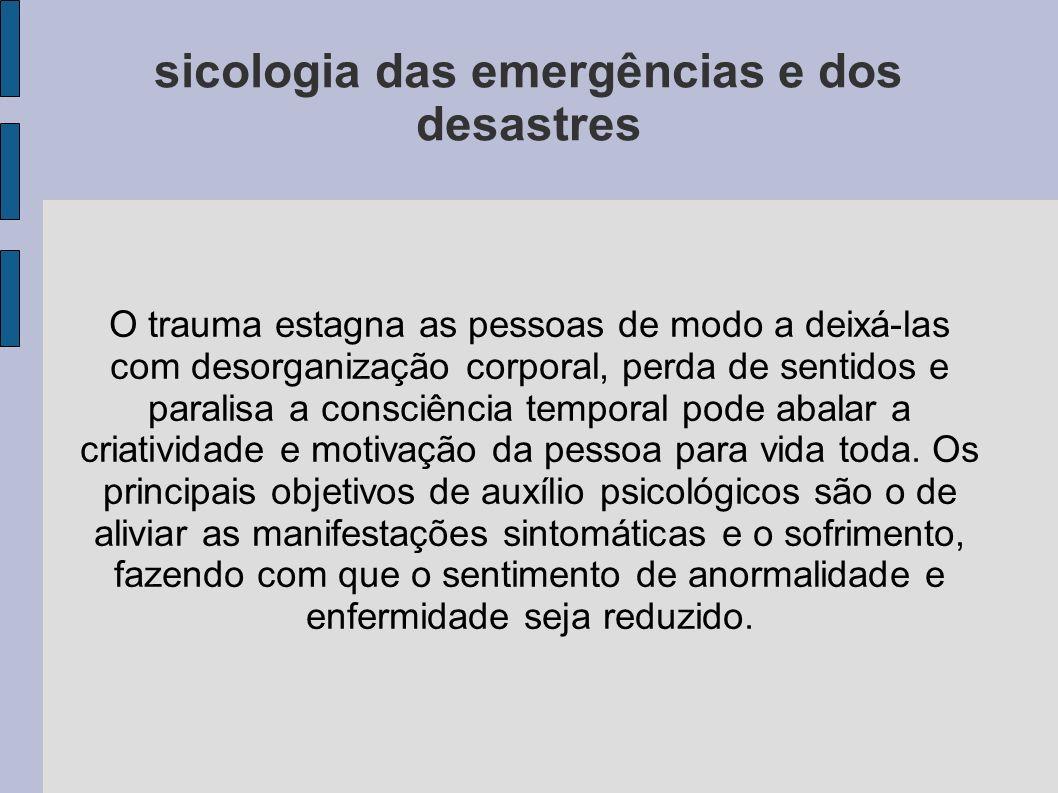 sicologia das emergências e dos desastres