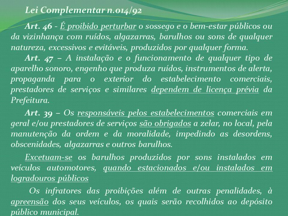 Lei Complementar n.014/92