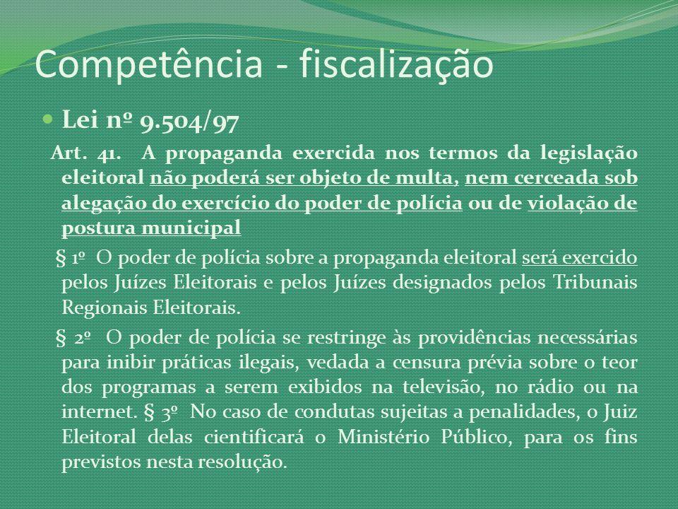 Competência - fiscalização