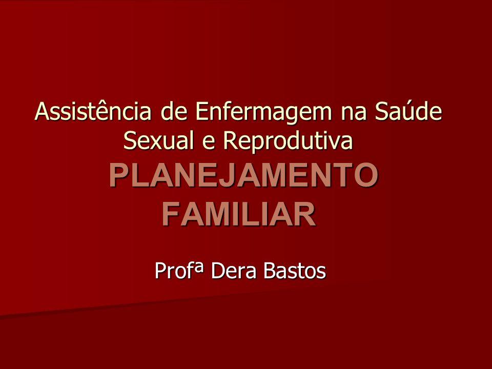 Assistência de Enfermagem na Saúde Sexual e Reprodutiva PLANEJAMENTO FAMILIAR