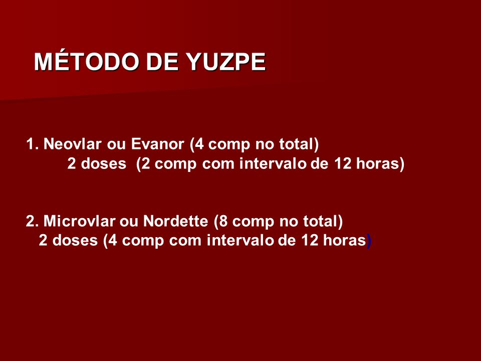 MÉTODO DE YUZPE 1. Neovlar ou Evanor (4 comp no total)