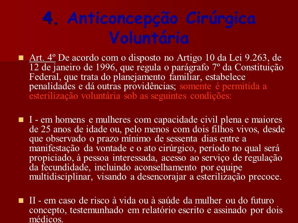 4. Anticoncepção Cirúrgica Voluntária