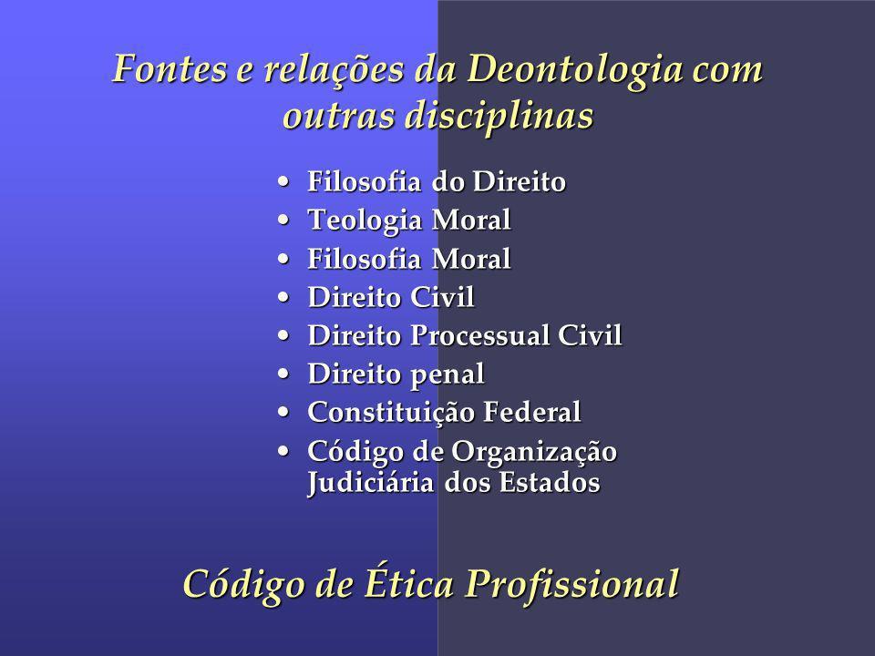 Fontes e relações da Deontologia com outras disciplinas