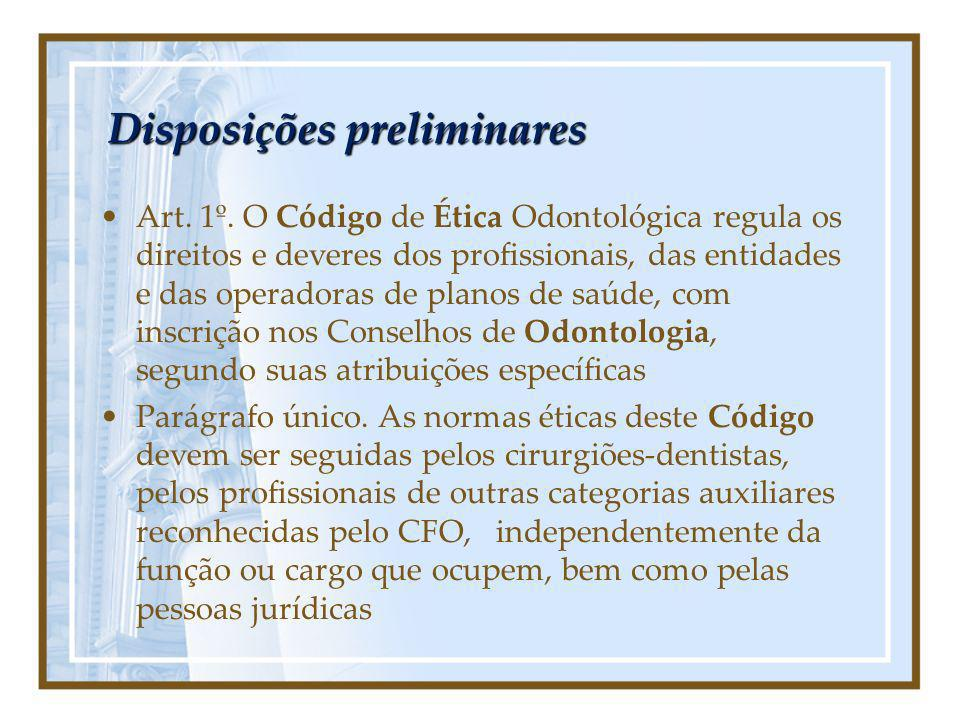 Disposições preliminares