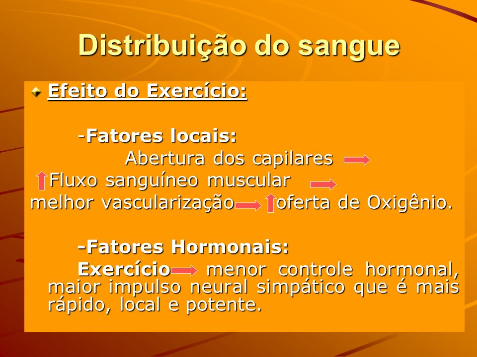 Distribuição do sangue