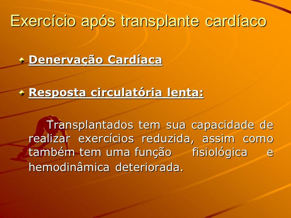 Exercício após transplante cardíaco
