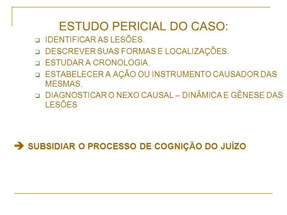 ESTUDO PERICIAL DO CASO: