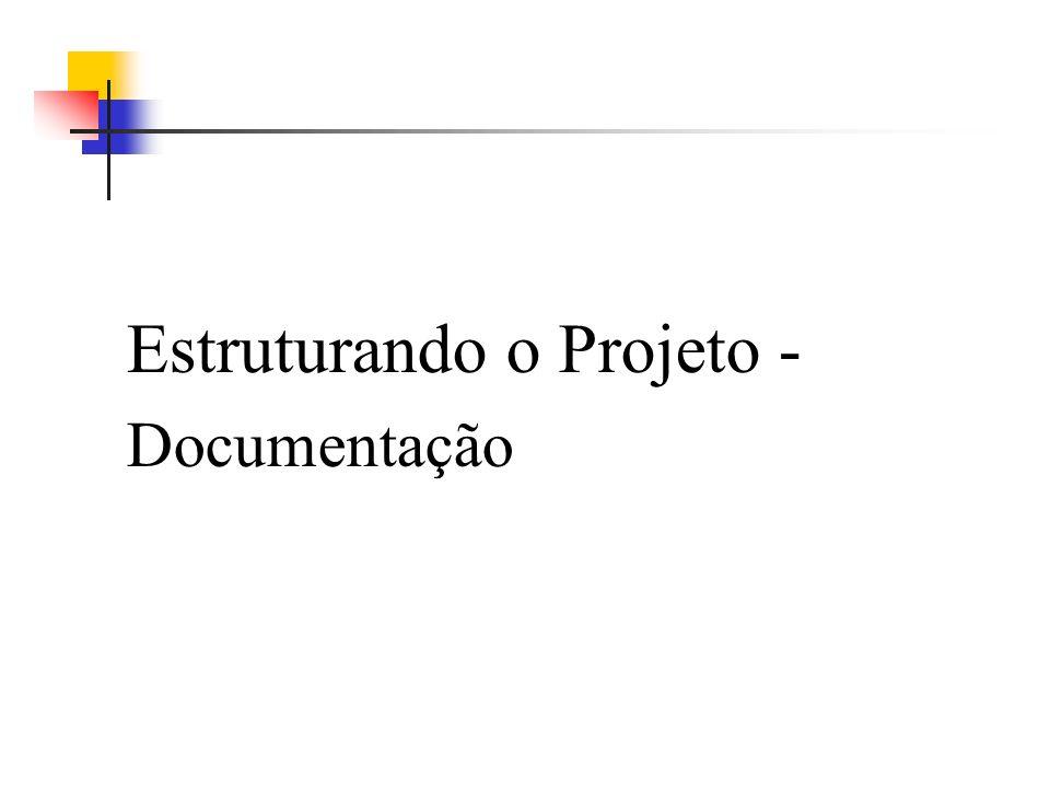 Estruturando o Projeto -