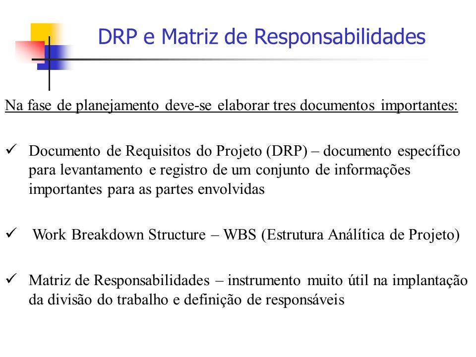 DRP e Matriz de Responsabilidades