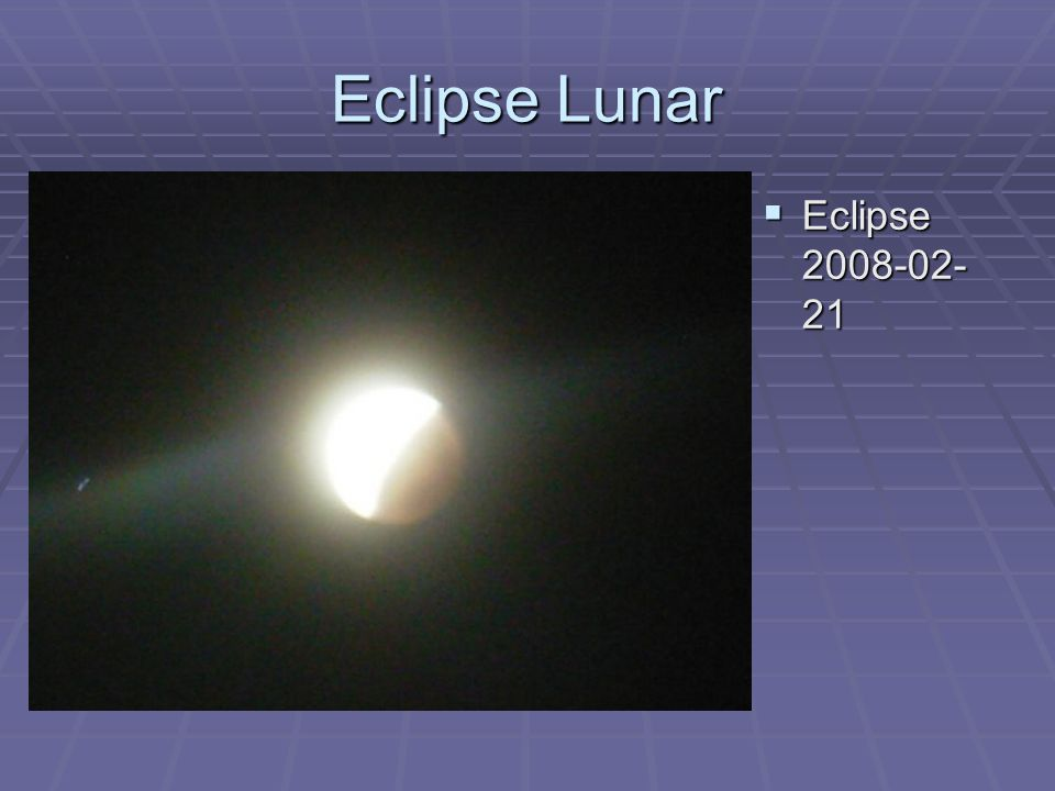 Eclipse Lunar Eclipse 2008-02-21