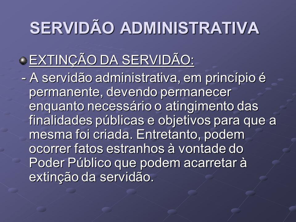 SERVIDÃO ADMINISTRATIVA