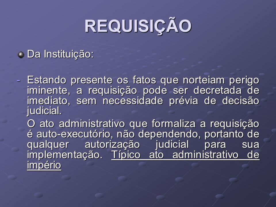 REQUISIÇÃO Da Instituição: