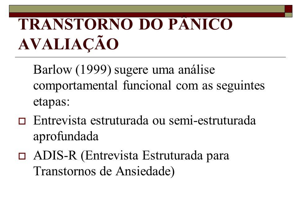 TRANSTORNO DO PÂNICO AVALIAÇÃO