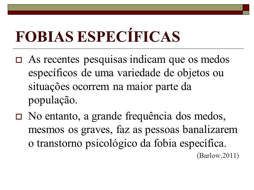 FOBIAS ESPECÍFICAS