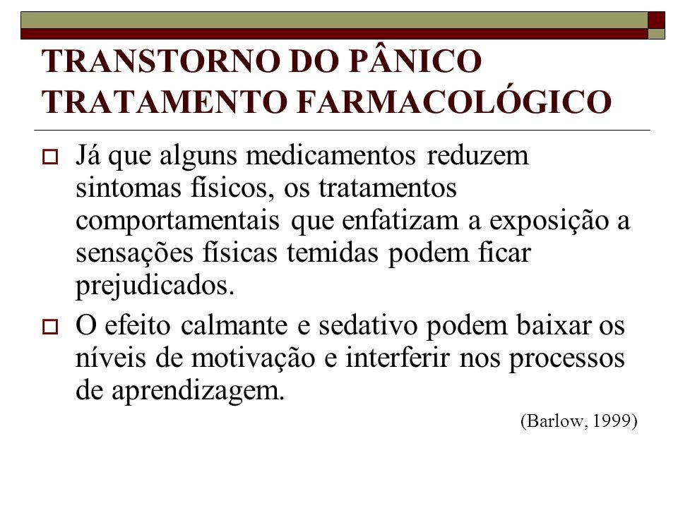 TRANSTORNO DO PÂNICO TRATAMENTO FARMACOLÓGICO