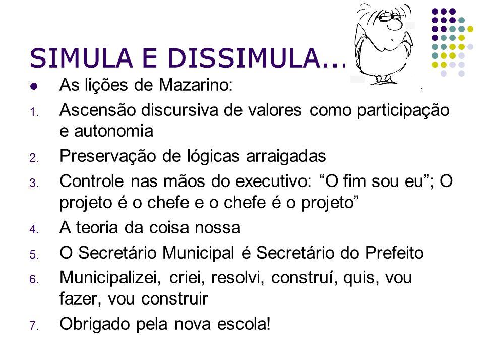 SIMULA E DISSIMULA... As lições de Mazarino: