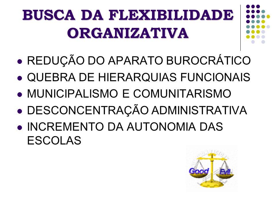 BUSCA DA FLEXIBILIDADE ORGANIZATIVA