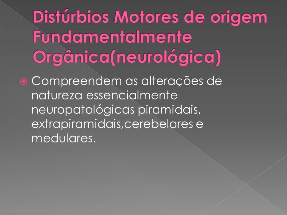 Distúrbios Motores de origem Fundamentalmente Orgânica(neurológica)