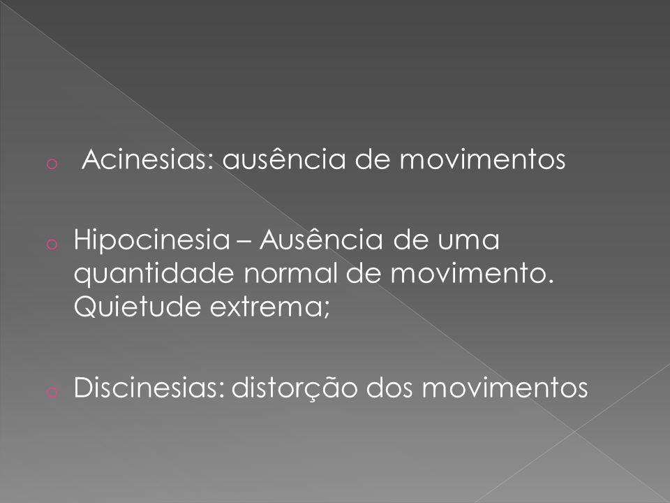 Acinesias: ausência de movimentos