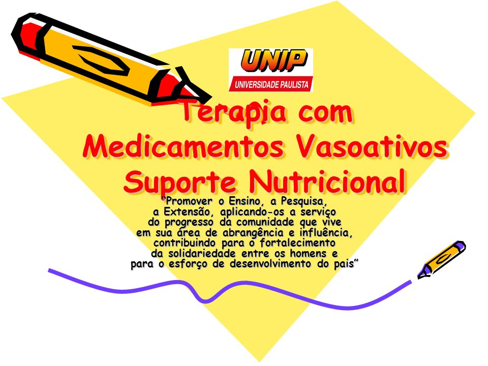Terapia com Medicamentos Vasoativos Suporte Nutricional