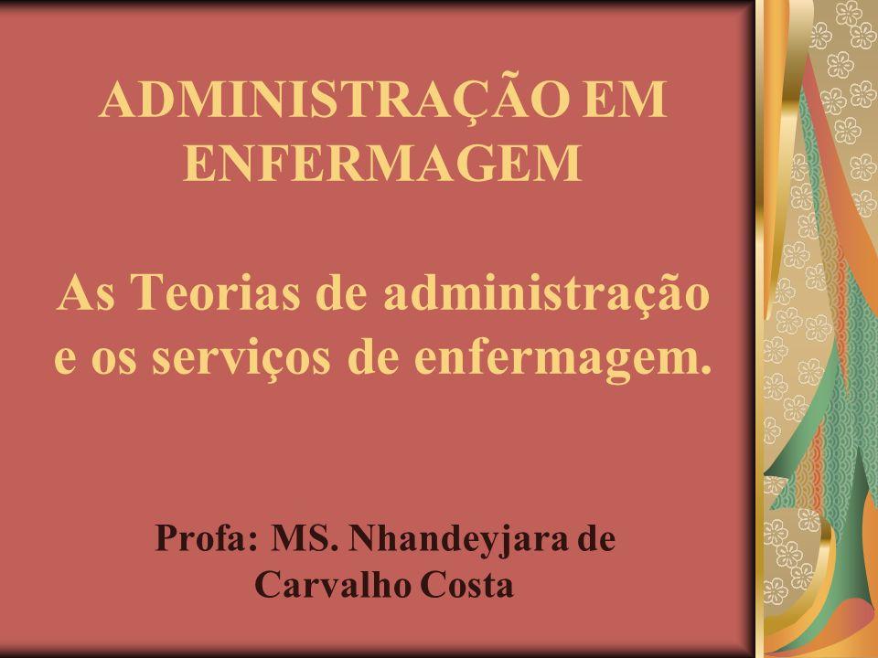 Profa: MS. Nhandeyjara de Carvalho Costa