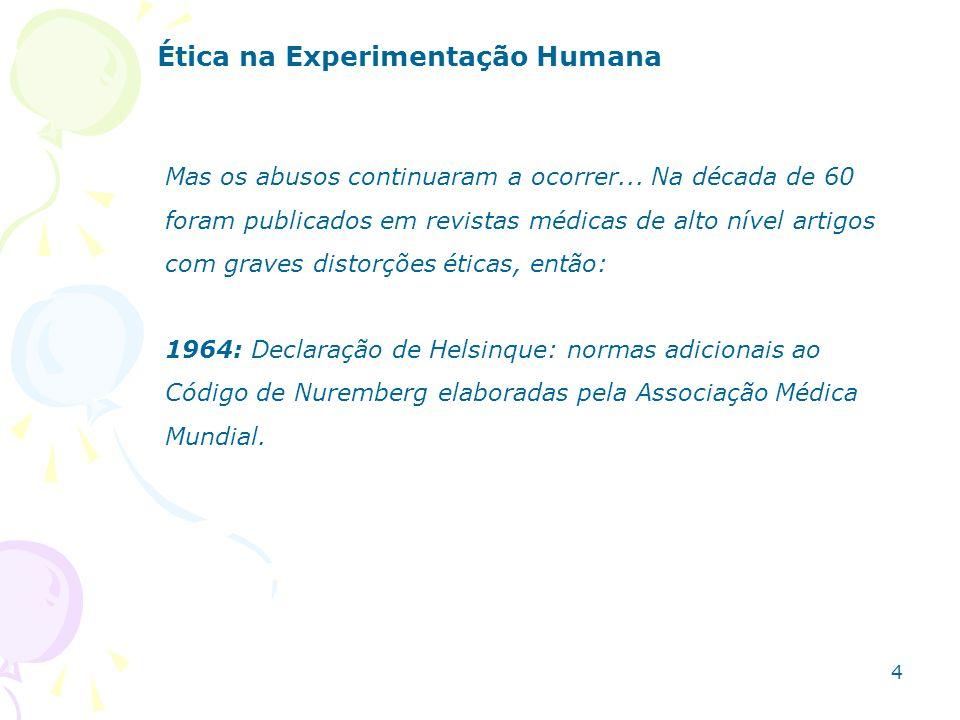 Ética na Experimentação Humana