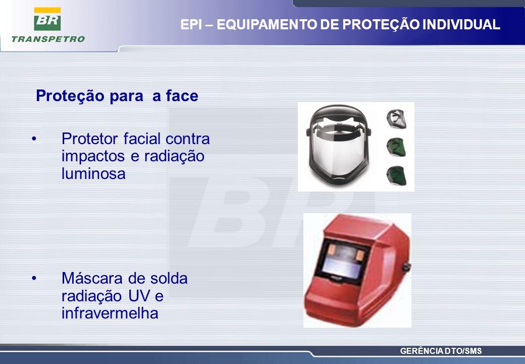 Protetor facial contra impactos e radiação luminosa
