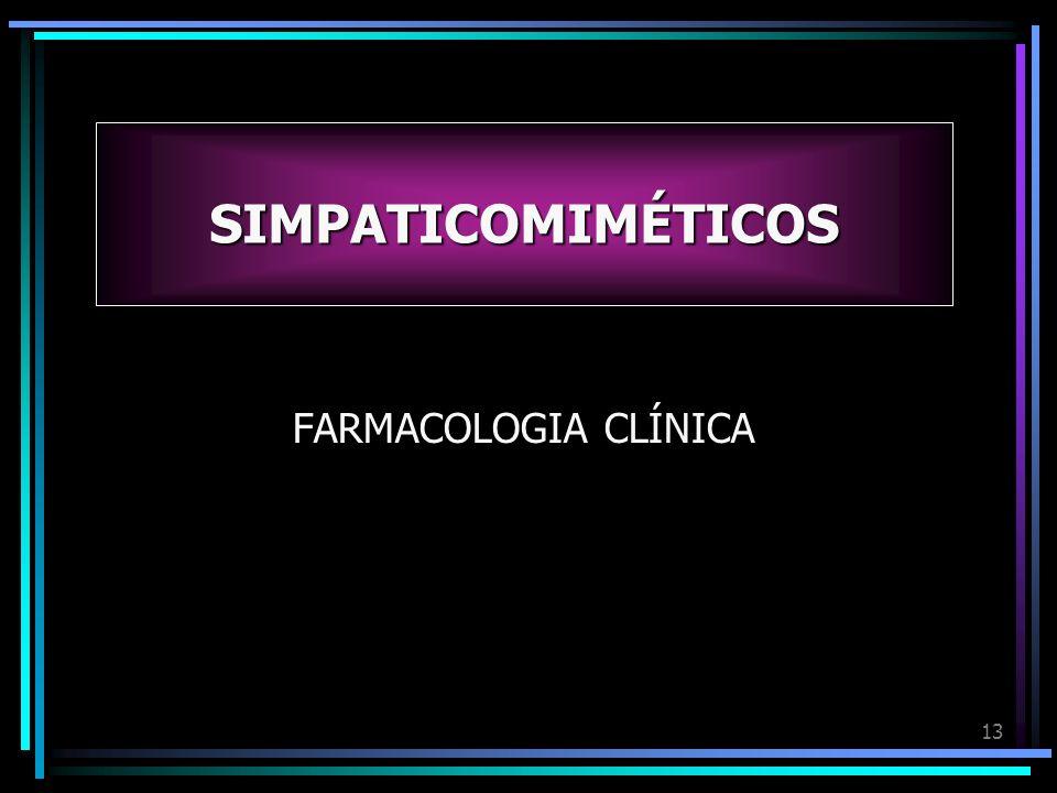 SIMPATICOMIMÉTICOS FARMACOLOGIA CLÍNICA