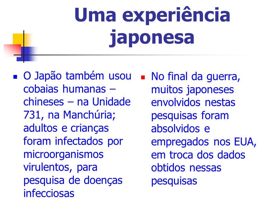 Uma experiência japonesa
