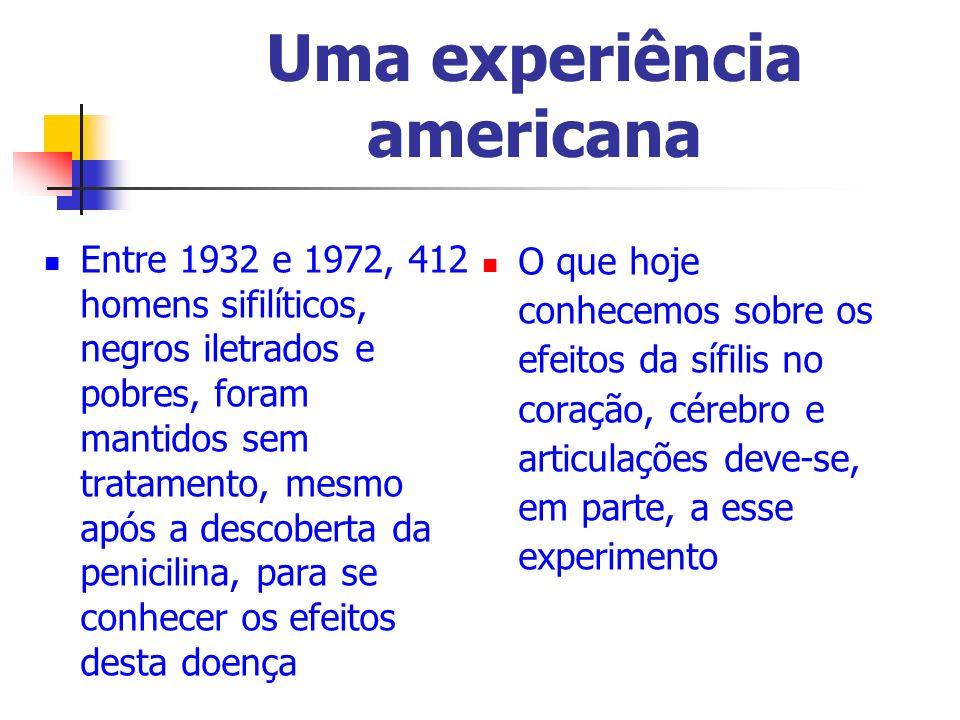 Uma experiência americana