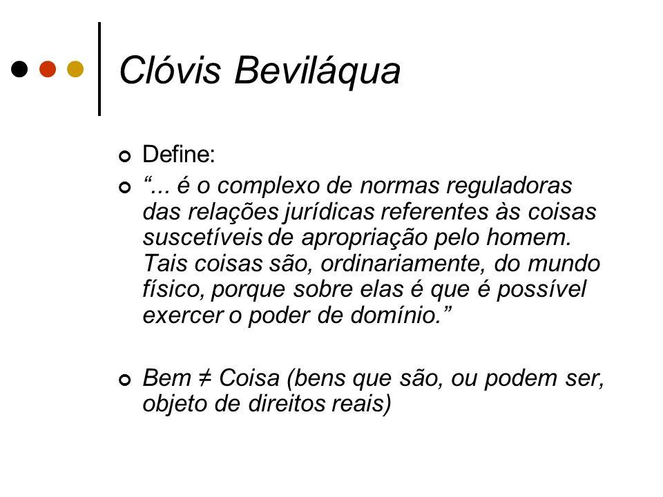 Clóvis Beviláqua Define: