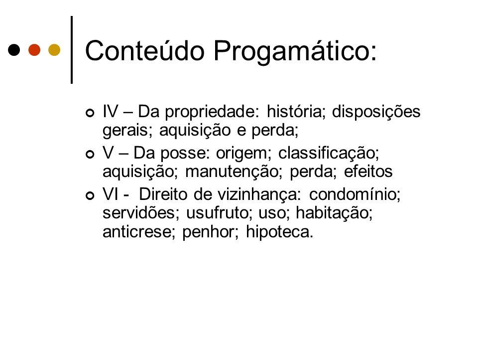 Conteúdo Progamático: