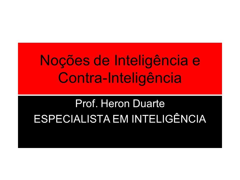 Noções de Inteligência e Contra-Inteligência