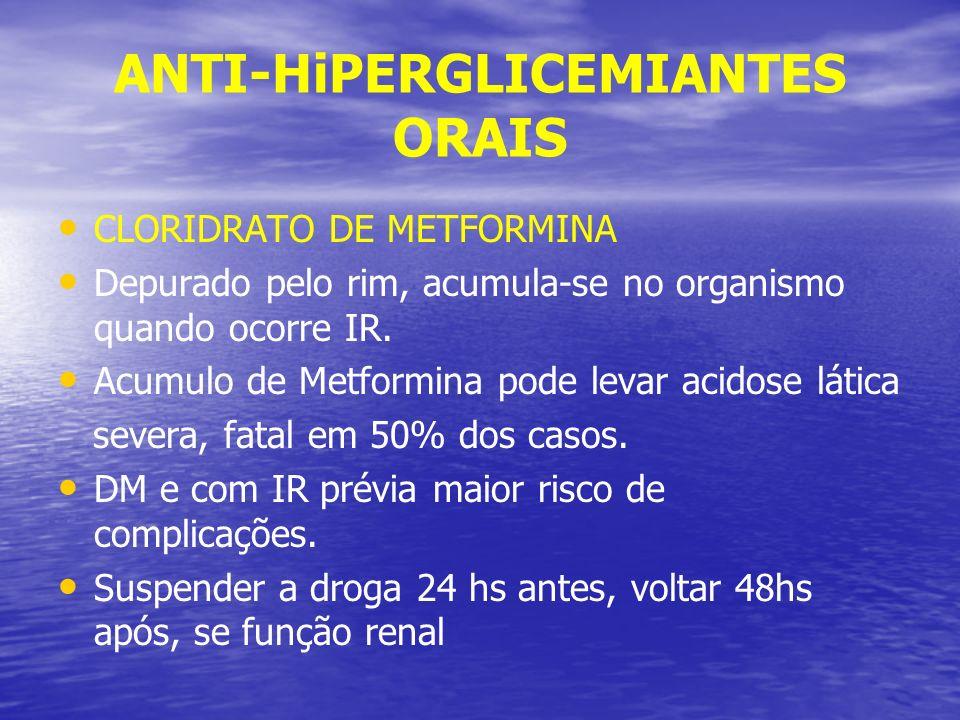 ANTI-HiPERGLICEMIANTES ORAIS