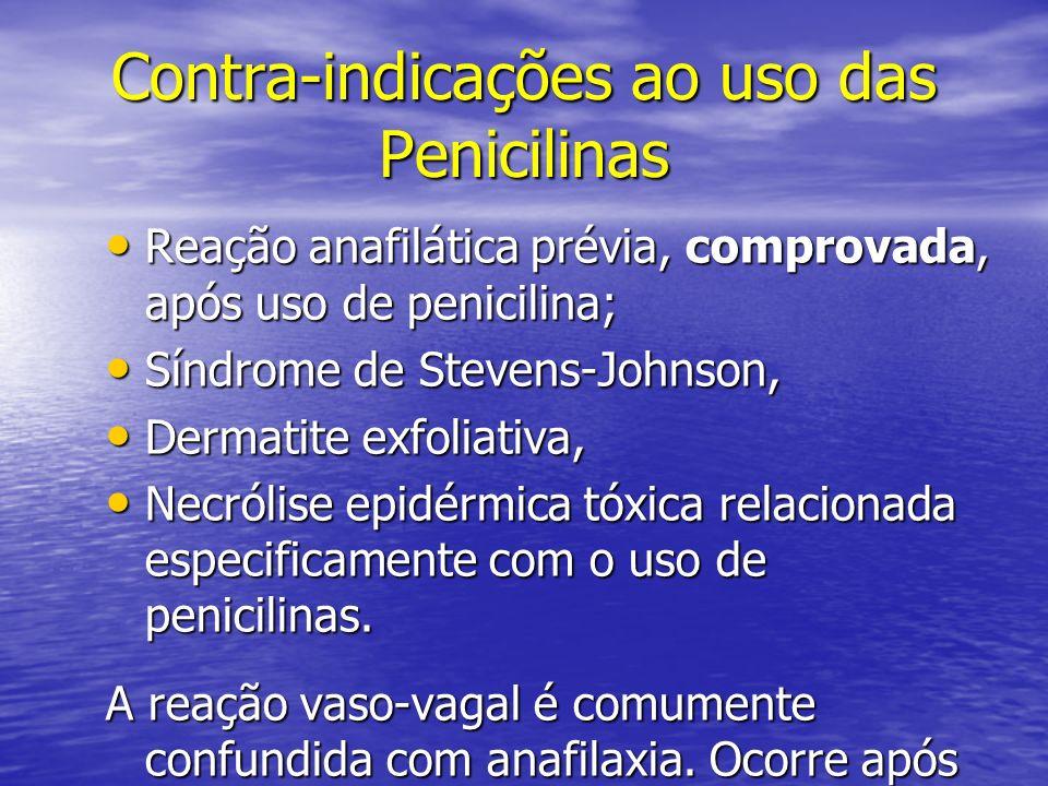 Contra-indicações ao uso das Penicilinas