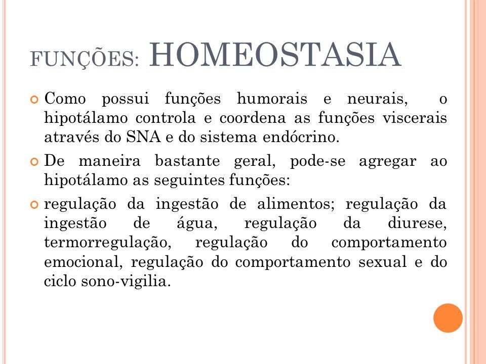 FUNÇÕES: HOMEOSTASIA