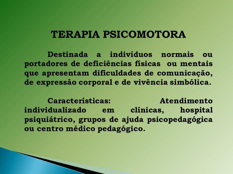 TERAPIA PSICOMOTORA.