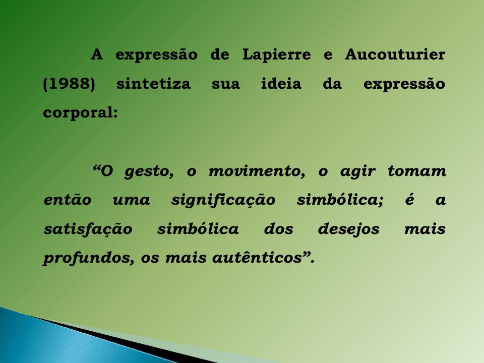A expressão de Lapierre e Aucouturier (1988) sintetiza sua ideia da expressão corporal: