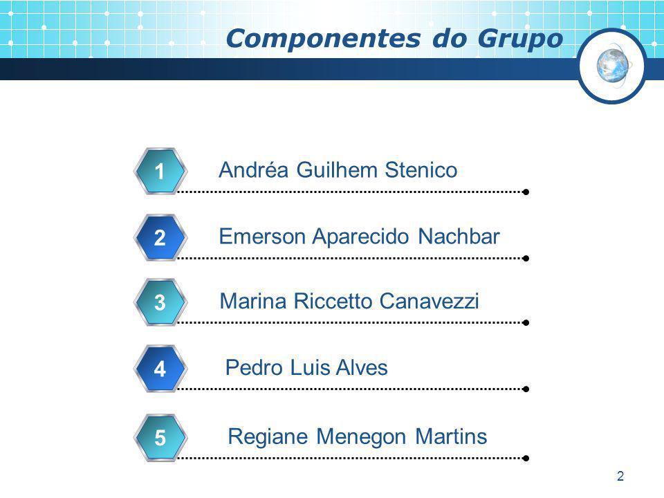 Componentes do Grupo 1 Andréa Guilhem Stenico 2