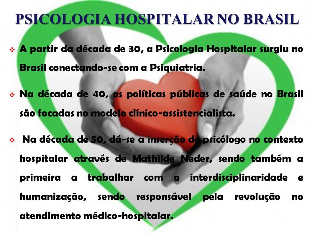 PSICOLOGIA HOSPITALAR NO BRASIL